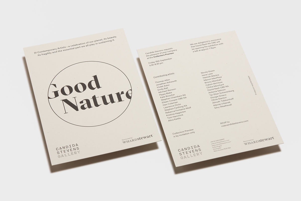 Good Nature flyer, design by Praline