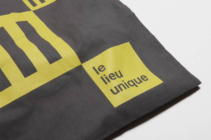 le lieu unique tote bag detail, design by Praline