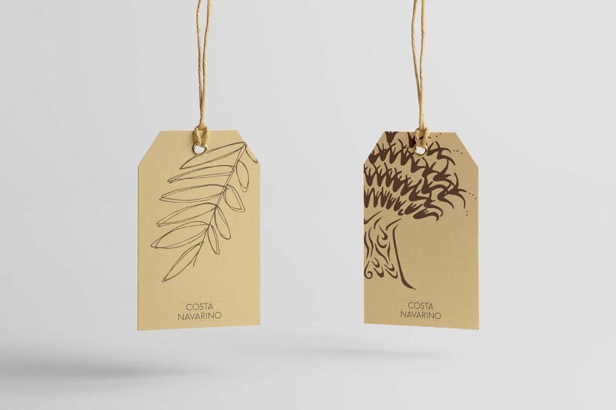 Costa Navarino tags, design by Praline