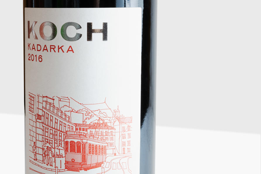 KOCH red wine detail, design by Praline